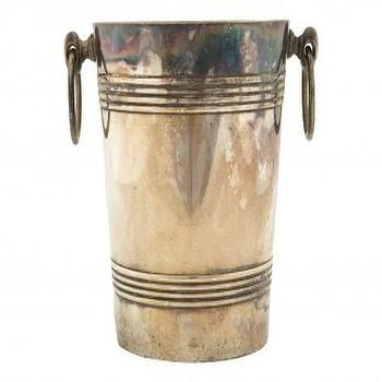 Decor/Accessories - Antique Silver Ice Bucket - Tabletop - Flea | Jayson Home - antique, silver, ice, bucket