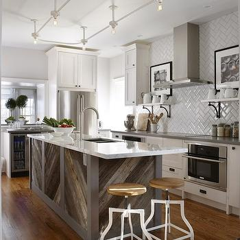 Track Lighting Kitchen, Contemporary, kitchen, Para Paints Mennonite Grey, Sarah Richardson Design