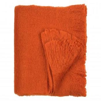 Bedding - WOOL THROW - ORANGE - Bedding & Blankets - Accessories | Jayson Home - wool, orange, throw