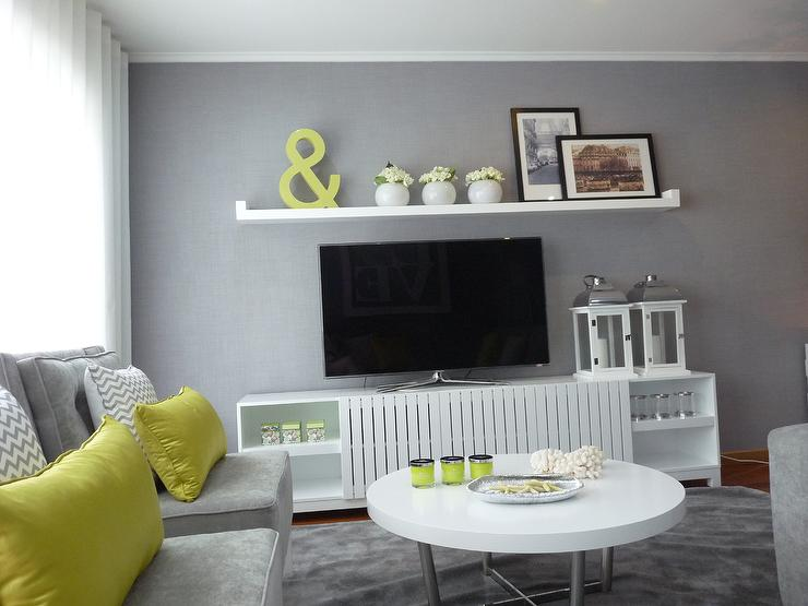 Living room - Green and grey room ideas ...