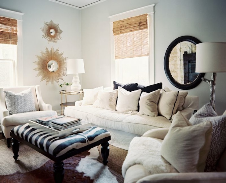 Blue Paint Colors Transitional Living Room Benjamin