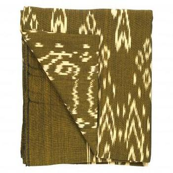 Bedding - Bronze Ikat Throw - Bedding & Blankets - Accessories | Jayson Home - bronze, ikat, throw