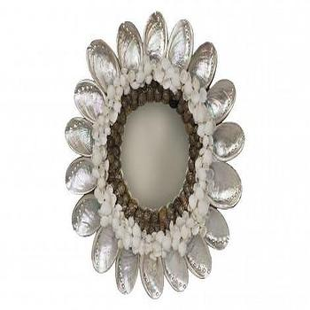 Abalone Shell Mirror, Mirrors & Wall D�?©cor, Accessories, Jayson Home
