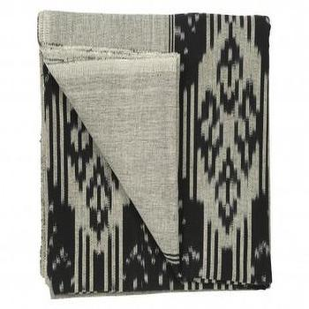 Bedding - Ink Ikat Throw - Bedding & Blankets - Accessories | Jayson Home - ink, ikat, throw
