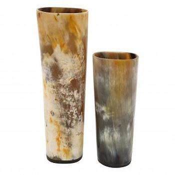 Decor/Accessories - HORN VASES - Tabletop - Accessories | Jayson Home - horn, vases