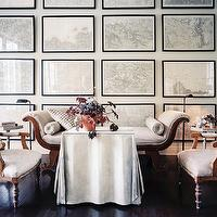 Floor To Ceiling Art Wall Transitional Living Room