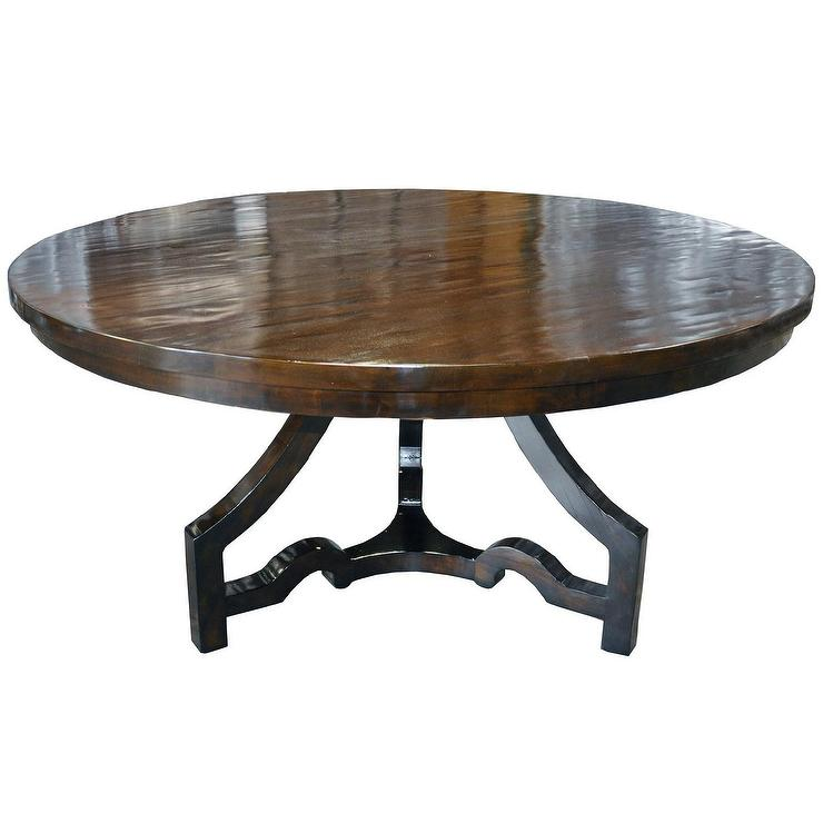 Dining table round dining table distressed for Distressed round dining table