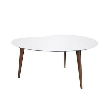 Tables - Jonathan Adler Okura Small White Kidney Table - jonathan adler, okura, small, white, kidney, table