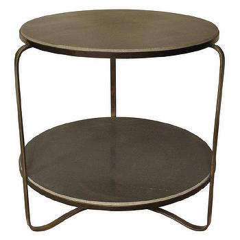 Tables - Noir Evan Side Table Metal/Stone - noir, evan, side, table