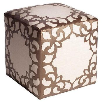 Seating - Brighton Bronze Ottoman - brighton, bronze, ottoman