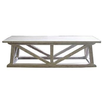 Tables - Noir Sutton Bench White Wash - noir, sutton, bench, white, wash