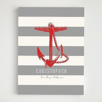 Art/Wall Decor - personalized anchor wall art - personalized, anchor, wall, art