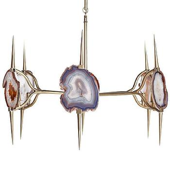 Lighting - Eclipse Agate Chandelier - eclipse, agate, chandelier