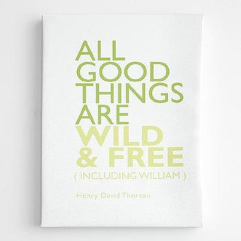Art/Wall Decor - All good things wall art from RedEnvelope.com - all good things are wild free