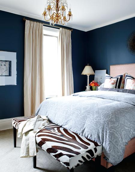 Zebra Bench Contemporary Bedroom Meredith Heron Design