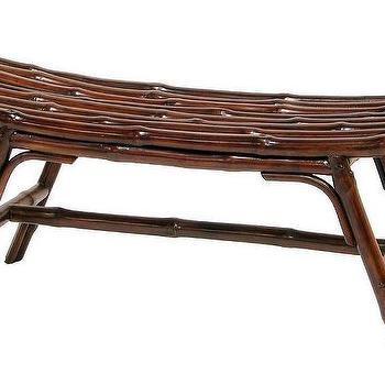 Bamboo Sling Bench: Coastal Home Decor