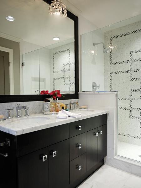 Espresso Double Vanity Contemporary Bathroom Kelly