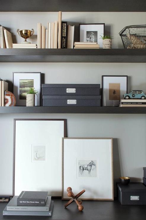 Office Shelves Contemporary Denlibraryoffice Kelly Deck Design