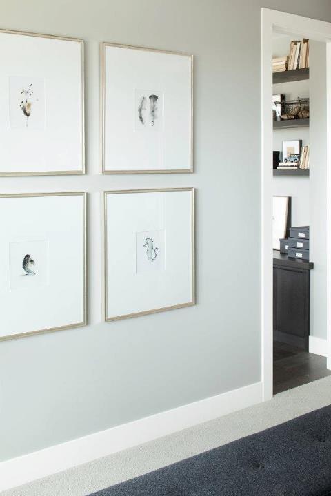 Silver Gallery Frames Contemporary Entrance Foyer