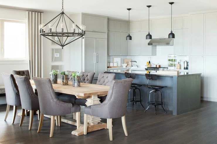 Trestle Salvaged Wood Dining Table Contemporary Dining