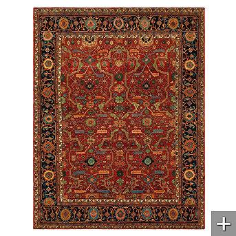 Rugs - Ralph Lauren Richmond Area Rug - Frontgate - persian, antique, traditional, red, rich, rug, ralph lauren