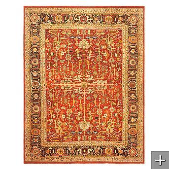Rugs - Ralph Lauren Wexford Area Rug - Frontgate - rug, persian, wool, rich, russet, ralph lauren