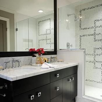 Espresso Double Vanity, Contemporary, bathroom, Kelly Deck Design