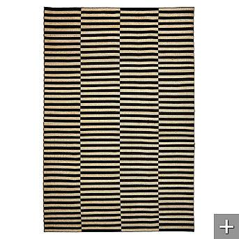 Rugs - Ralph Lauren Cameron Stripe Area Rug - Frontgate - rug, ralph lauren, striped, black, cream, art deco, modern, contemporary