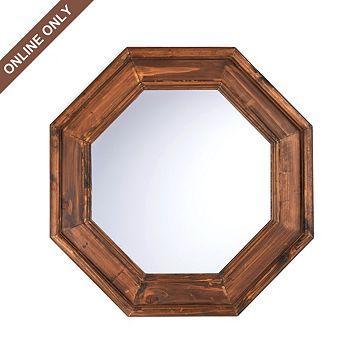Wood Atwood Octagonal Mirror at Kirkland s