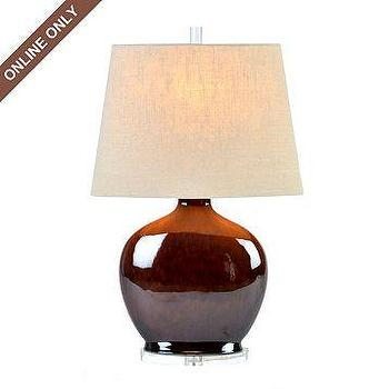 Lighting - Ceramic Cypress Table Lamp at Kirkland's - plum lamp, table lamp, glazed, ceramic