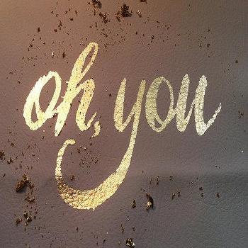 Art/Wall Decor - gilded poster oh you by thevaguely on Etsy - oh you, gilded, poster