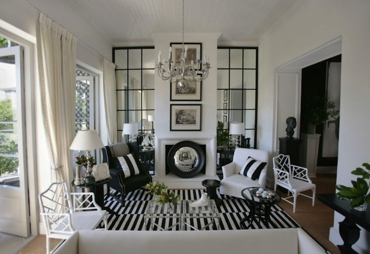 Black And White Decorating black and white living room design. 10 black and white living room
