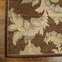 Rugs - Rugs - Chocolate Acanthus Rug - RSH Catalog - rug, brown, acanthus, gray green