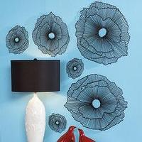 Art/Wall Decor - Wall Decor - Wire Blooms - RSH Catalog - decor, sculpture, black, wire, graphic