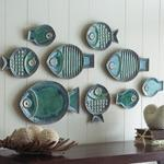 Art/Wall Decor - Wall Decor - Malibu Fish Plates - RSH Catalog - fish, nautical, beachy, coastal, decor, plates, green, blue