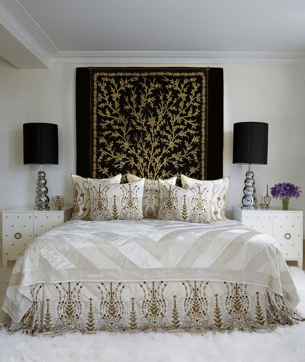Gallery for white black and gold bedroom - Black white and gold bedroom ...