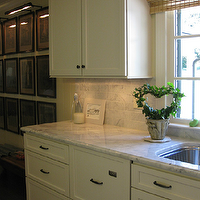 West End Cabinet Company - kitchens - shaker cabinets, white shaker cabinets, shaker kitchen cabinets, white shaker kitchen cabinets, bronze hardware, bronze cabinet hardware, bronze cabinet pull, oil rubbed bronze, oil rubbed bronze pulls, oil rubbed bronze hardware, oil rubbed bronze cabinet hardware, oil rubbed bronze cabinet hardware, oil rubbed bronze cabinet pulls, marble countertops, beveled marble countertops, marble subway tile, marble subway tile backsplash, bamboo roman shade, kitchen art gallery, kitchen photo wall,