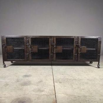Storage Furniture - strut sideboard | Redinfred - metal, weave, modern, industrial, sideboard, media, cabinet