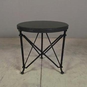 Tables - far rockaway table | Redinfred - black, marble, metal, victorian, industrial, folding