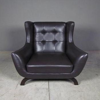 Seating - fresh meadows chair | Redinfred - expresso, leather, brown, retro, vintage, modern, chair, tufted