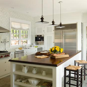 Seagrass Bar Stools, Cottage, kitchen, Centerbrook Architects