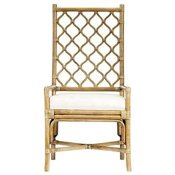 Seating - Ambrose Nutmeg Arm Chair - Zinc Door - nutmeg, lattice, asian, modern, wood, rattan, leather, chair, dining