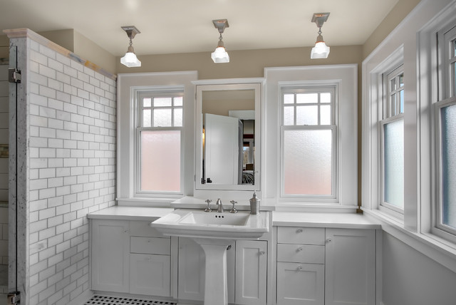 Luxury Transitional Bathroom Vanity Light Medium Size 8