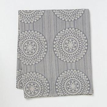 Decor/Accessories - Swedish Travel Throw l Terrain - gray, throw, Swedish, medallions, cotton, reversible, gray