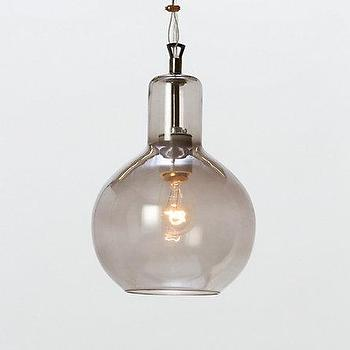 Lighting - Graysmoke Laboratory Pendant Lamp l Terrain - glass, steel, ceramic, bulb, gourd, pendant, gray, clear