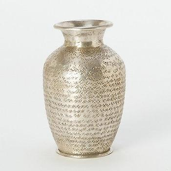Decor/Accessories - Sheen Impressions Vase l Terrain - aluminium, etched, metallic, silver, champagne, gold, dots, vase