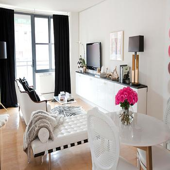 Black and White Living Room, Contemporary, living room, Made by Girl