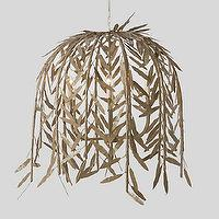 Lighting - Weeping Willow Chandelier l Terrain - iron, branches, gold, forged, pendant, chandelier, whimsical, sculpture