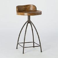 Seating - Mango Wood Swivel Bar Stool l Terrain - mango, wood, modern, natural, industrial, iron, rustic, black,