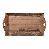 Decor/Accessories - Reclaimed Wood Tray l Terrain - reclaimed, wood, tray, brown, rustic,